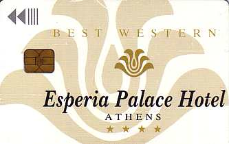 Hotel Keycard Best Western Athens Greece Front
