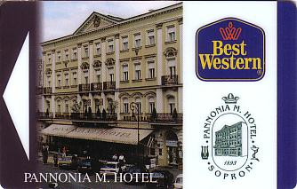 Hotel Keycard Best Western Sopron Hungary Front