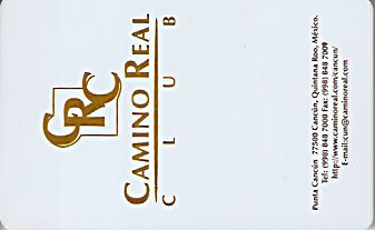 Hotel Keycard Camino Real Cancun Mexico Front
