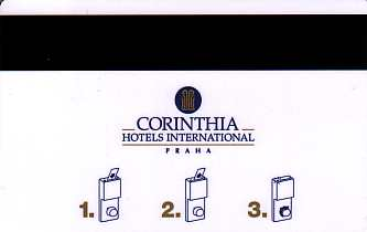 Hotel Keycard Corinthia Prague Czech Republic Back