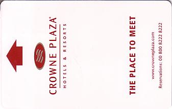 Hotel Keycard Crowne Plaza Amsterdam Netherlands Front