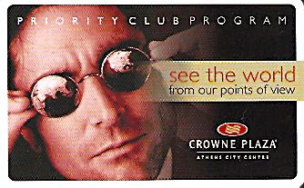 Hotel Keycard Crowne Plaza Athens Greece Front