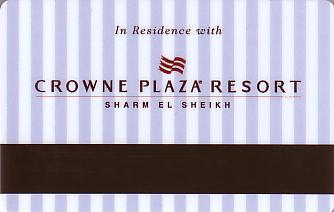 Hotel Keycard Crowne Plaza Sharm El Sheikh Egypt Back