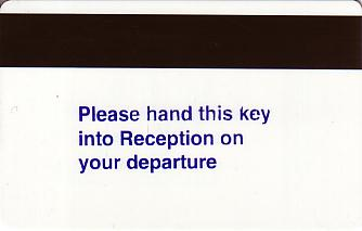 Hotel Keycard Holiday Inn Garden Court Generic Back