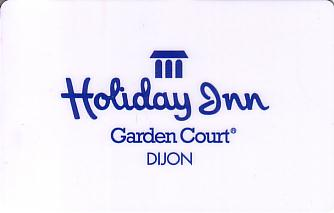 Hotel Keycard Holiday Inn Garden Court Dijon France Front