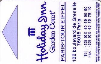 Hotel Keycard Holiday Inn Garden Court Paris France Front