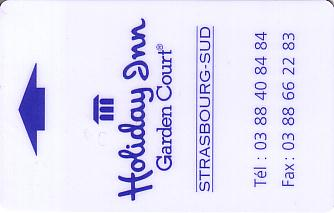 Hotel Keycard Holiday Inn Garden Court Strasbourg France Front