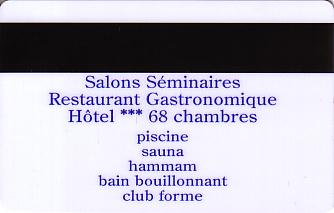 Hotel Keycard Holiday Inn Garden Court Strasbourg France Back