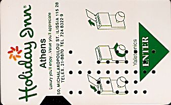 Hotel Keycard Holiday Inn Athens Greece Front