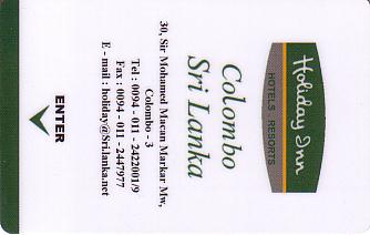 Hotel Keycard Holiday Inn Colombo Sri Lanka Front