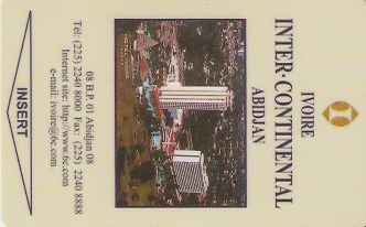 Hotel Keycard Inter-Continental Abidjan Cote d Ivoire Front