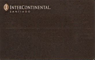 Hotel Keycard Inter-Continental Santiago Chile Front