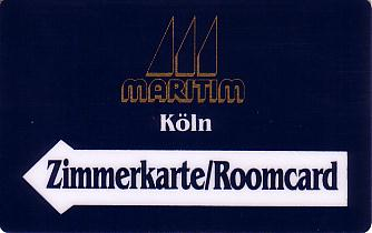 Hotel Keycard Maritim Cologne Germany Front