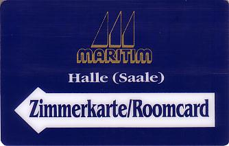 Hotel Keycard Maritim Halle Germany Front