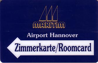 Hotel Keycard Maritim Hannover Germany Front