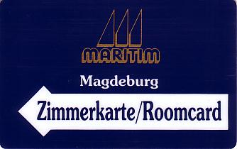 Hotel Keycard Maritim Magdeburg Germany Front