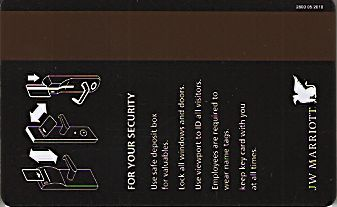 Hotel Keycard Marriott - JW Generic Back