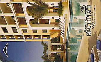 Hotel Keycard Marriott - Vacation Club Beach Place Towers U.S.A. Front