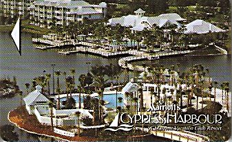 Hotel Keycard Marriott - Vacation Club Cypress Harbour U.S.A. Front