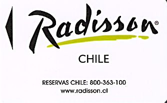 Hotel Keycard Radisson  Chile Front
